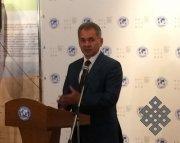 Президент РГО Сергей Шойгу открыл в Москве выставку, посвященную Туве