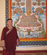 Заместитель Камбы-Ламы Тувы в главном храме Калмыкии