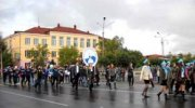 Парад первокурсников в Кызыле