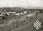 Фото №1. Вид на площадь и улицу Ленина - на восточную часть города со старой пожарной вышки. Автор В.П.Ермолаев. 1935 г.