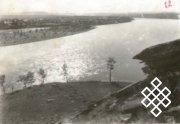 Фото № 3. Вид на реку Улуг-Хем и г. Кызыл с Виллан. Автор В.П. Ермолаев 1931 г.