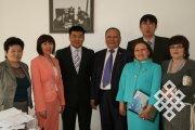 Тувинская делегация в Институте истории Академии наук Монголии