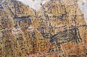 Петроглифы на склонах г. Бижиктиг-Хая, 4-го - 3-го тыс. до н.э. Фото Алексея Антонова