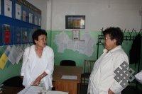 С коллегой Надеждой Сувандии