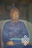 Портрет М.Б.Кенин-Лопсана кисти В.С.Самия
