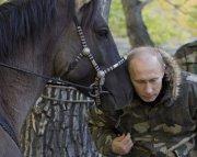 Владимир Путин во время фотоохоты в Туве