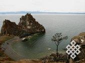 Хмурый Байкал. Шаманский мыс на самом крупном острове Ольхон на Байкале, наверное, всегда бывает не очень гостеприимным в пасмурную погоду.