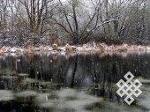 Первый снег. Много раз фотографировал этот заросший пруд (в том числе с одной точки), но он всегда разный.