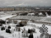 A Moscow landscape. I am happy for my Moscow friends who have this beautiful park right under their windows.