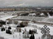 Московский пейзаж. Рад за моих друзей-москвичей, у кого под окнами такой дивный парк.