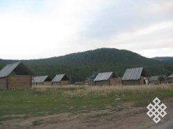 Общий вид села Хом.