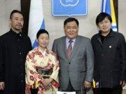 На приеме у главы Тувы побывали музыканты из Японии