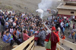В Чаа-Холе освятили копию буддийской ниши, утерянной из-за Саяно-Шушенского водохранилища