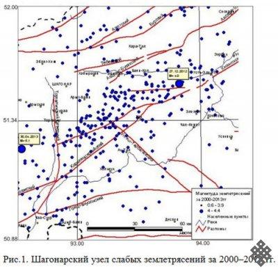 Мониторинг землетрясений Центральной Тувы