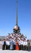 Оркестр Минобороны РФ с Парада Победы на Красной площади сразу приехал в Туву